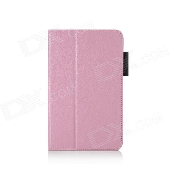 HighPro Protective PU Leather Case with Handle Strap for Samsung GALAXY Tab S 8.4 - Pink