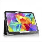 HighPro Protective PU Leather Case with Handle Strap for Samsung Galaxy Tab S 10.5 - Black