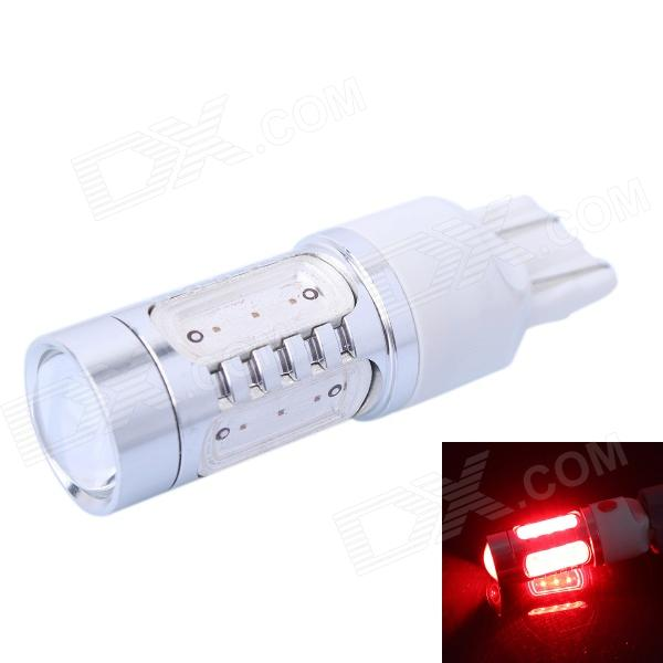 T20 11W 350lm 625nm 1-LED + 4 x COB Red Brake Light for Car (DC12~24V) led rear bumper warning lights car brake lamp cob running light led turn light for honda civic 2016 one pair