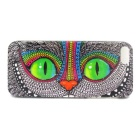 Goodlen Protective Cheshire Cat Pattern Plastic Back Case for IPHONE 5 / 5S - Grey + Multicolor