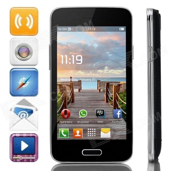 "BML S55-w MTK6572 Dual-Core Android 4.2.2 WCDMA Bar Phone w/ 4.0"", Wi-Fi and GPS - Blue + Black"