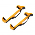 Car Steering Wheel Mounted Holder Bracket for Mobile Phone - Yellow (2 PCS)