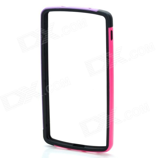 Protective TPU + PC Bumper Frame for LG Nexus 5 - Pink + Black + Purple slim clear cover for samsung galaxy s6 edge blue