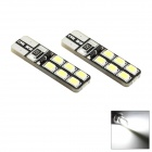 HONSCO T10 2W 6500K 70lm 12-SMD 2835 LED Cool White Light Bulb for Car ( 2 PCS / DC 12V)