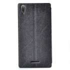 Protective PU Leather + PC Case Cover Stand for Sony Xperia T3 - Black