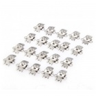 TS DIY Blank Stainless Steel Shoe Clips Findings - Silver (20 PCS)