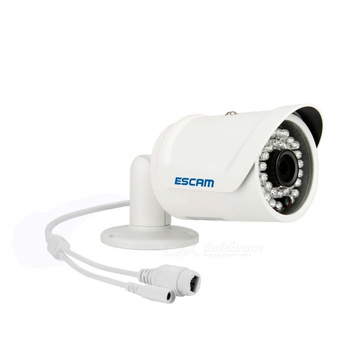 ESCAM Fighter QD320 ONVIF P2P CMOS 3.6mm Lens Waterproof Network IP Camera w/ 36-IR LED - White