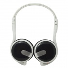 WLD M200C Fold-up Stereo MP3 Headband Headphone w/ FM / TF Card Slot - White + Black