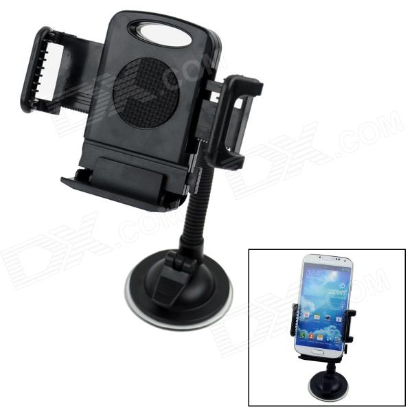 360' Rotatable Car Suction Cup Stand Holder Mount Bracket for GPS / Cell Phone - Black yd2167 k 360 degree rotatable universal suction cup car mount holder bracket for gps pda black