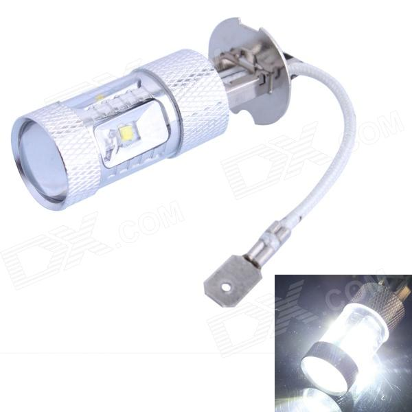 H3 30W 400LM 6500K 6-LED White Foglight for Car (DC 12~24V) h3 11w 400lm 1 led 4 cob white light car foglight headlamp dc 12 24v