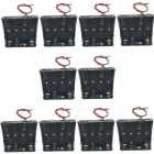 CM01 DIY 4 x AA Battery Holder Case Box w/ Leads (10PCS)