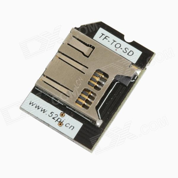 TENYING PITD TF Card to SD Card Adapter for Raspberry Pi - Black
