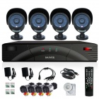 SANNCE 4-CH CCTV DVR + 4 x 800TVL Cameras Security System Set - Black (PAL / UK Plug)