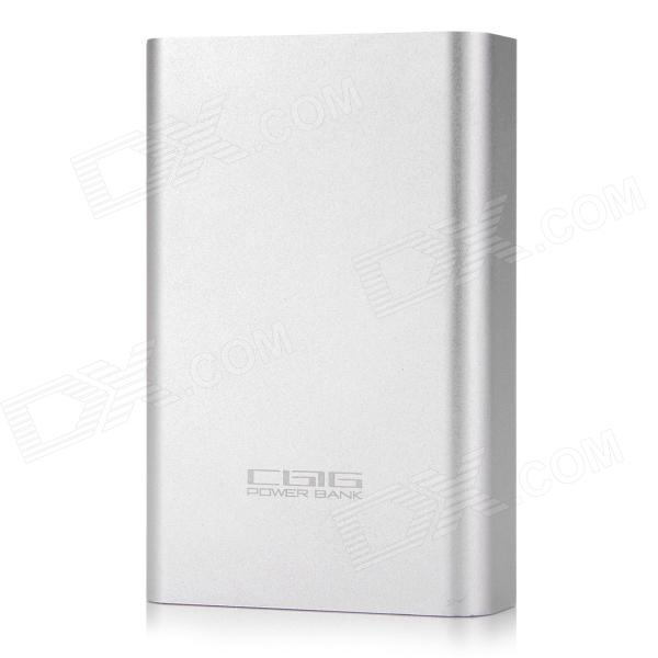CGIG Q5 Universal 7800mAh Dual USB Output Mobile Power Bank for IPHONE 5S / Samsung - Silver + White