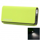 "CGIG Q3 Universal ""5200mAh""  Power Bank for IPHONE 6 / 5S / Samsung w/ LED torch - Light Green"