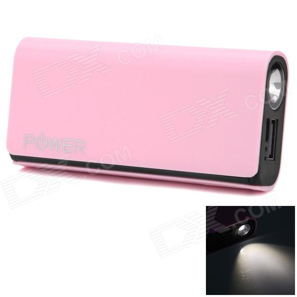 CGIG Q3 Universal 5200mAh Power Bank for IPHONE 5S / Samsung w/ LED torch - Pink pickogen he 077 uv fisheye macro wide angle camera lens with led for iphone samsung pink