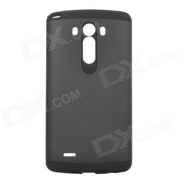 Fashionable Armor Style Protective PC + Silicone Back Case for LG G3 - Black