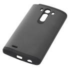 Armor Style Protective PC + Silicone Back Case for LG G3 - Black