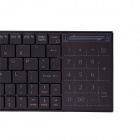 iPazzPort KP-810-25 Mini Wireless Multi-system Keyboard for Windows / Android - Black (2 x AAA)