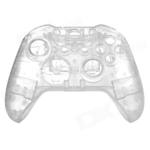 Replacement Full Housing Case + Buttons for XBOX ONE Wireless Controller - Transparent one piece 1x brand new high quality silicon protective skin case cover for xbox 360 remote controller blue green mix color