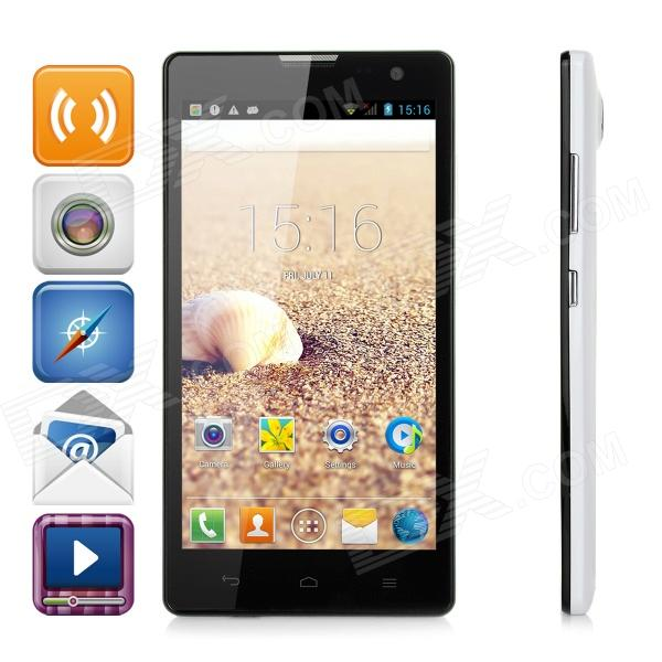 "CKCOM C3 5 ""IPS HD Display 5MP MTK6572A Dual Core Android 4.2.2 Handy w / 4GB ROM - White + Black"