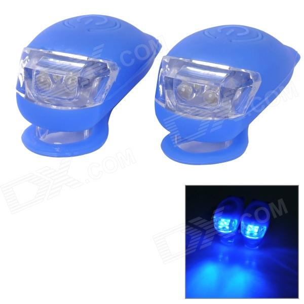 XR-001 Tadpole Shape Outdoor Bicycle Bike Blue Light LED Warning Light - Blue (2 PCS / 2 x CR2302)