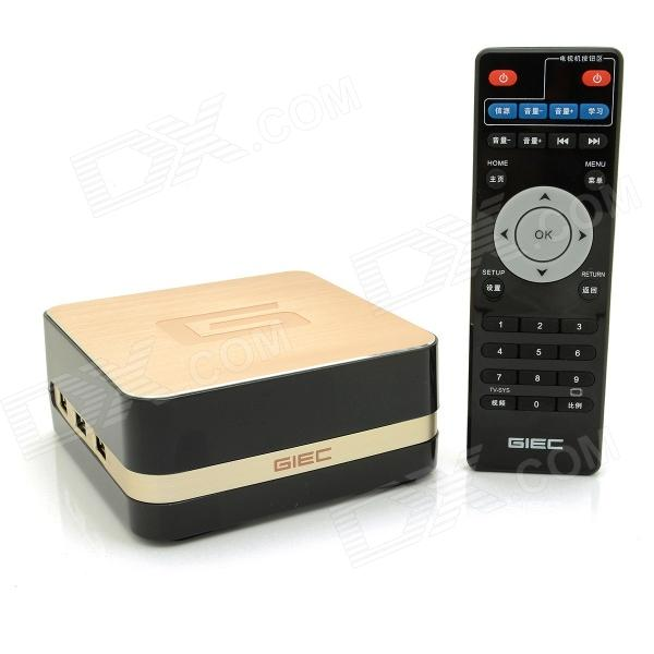 GIEC R11 Quad-Core Android 4.4.2 Google TV Player w/ 1GB RAM, 8GB ROM, Wi-Fi, Dolby, DTS - Golden hdd плеер giec bdp g43053d dvd