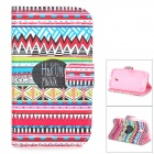 IKKI Patterned Flip Open Case w/ Stand + Card Slot for Motorola MOTO E / XT1021 / XT1022 / XT1025