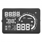 "S5 5.5"" Screen Car Head UP Display w/ Non-slip Mat / Reflective Film / OBD Data Cable - Black"