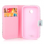 IKKI Tower Style Flip Open Case w/ Stand + Card Slot for Motorola MOTO E / XT1021 / XT1022 / XT1025