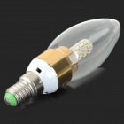 MLSLED MLX-JP-3-3 E14 3W 30-SMD 3014 LED Warm White Light Bulb - White + Yellow (AC 190~230V)