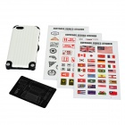 Miak Suitcase Style Protective PC + TPU Case w/ Stickers + NFC for IPHONE 5 / 5S - White + Black