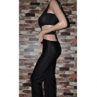 Women's Fashionable Sexy Polyester + Spandex Jumpsuit - Black (Size M)
