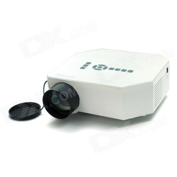 RQ RQ30+ Mini LCD Projector w/ HDMI / VGA / TV / Video / AV - White + Black