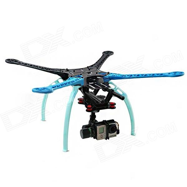 FPV S500-GF SK500 4-Axis Glass Fiber Quadcopter Repair and Replacement Rack for GoPro Hero 3