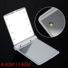 JL Lithe Fold Make-up Cosmetic Mirror w/ 8-LED Light - White