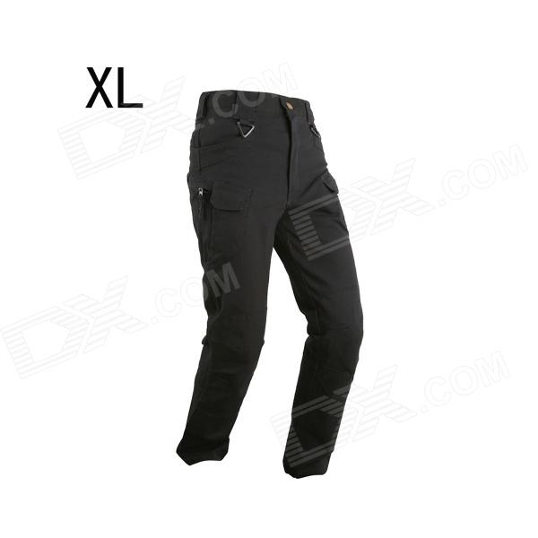 ESDY ESDY-928 Men's Casual Cotton Trousers / Pants - Black (Size XL)