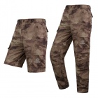 ESDY Men's Outdoor Sports Quick Drying Polyester Long Pants - Ruin Camouflage (XXL)