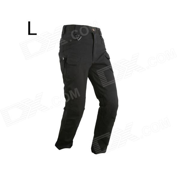 ESDY ESDY-927 Men's Casual Cotton Trousers / Pants - Black (Size L)