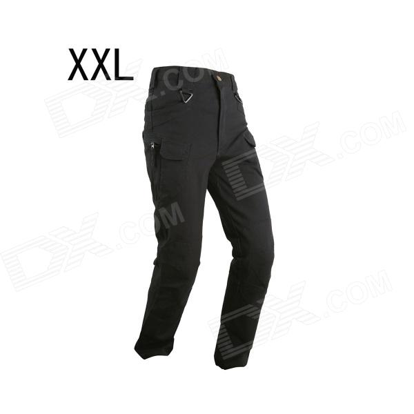 ESDY ESDY-929 Men's Casual Cotton Trousers / Pants - Black (Size XXL)