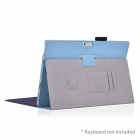 HighPro Protective PU Leather Case with Handle Strap for Microsoft Windows Surface Pro 3 - Sky Blue