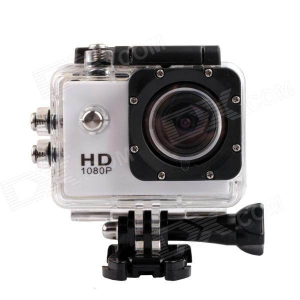 SJ4000 1.5 TFT 12.0 MP 2/3 CMOS 1080P Full HD Outdoor Sports Digital Video Camera - White barrow tzs1 a02 yklzs1 t01 g1 4 white black silver gold acrylic water cooling plug coins can be used to twist the