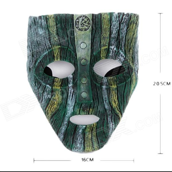 Boutique Zenomorph Loki Resin Mask for Costume Party / Halloween - Green