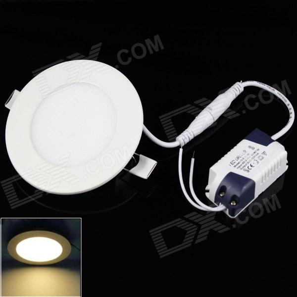 SKLED Anti-glaring 4W 3500K 320LM 45-3528SMD Warm White Light Ceiling  Lamp w/ Driver (AC 85~265V) kinfire square shaped 15w 1320lm 75 smd 3528 led white light ceiling lamp w driver ac 85 265v