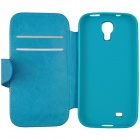 Stylish Flip Open PU Leather case w/ Card Slot for Samsung Galaxy S4 i9500 - Blue