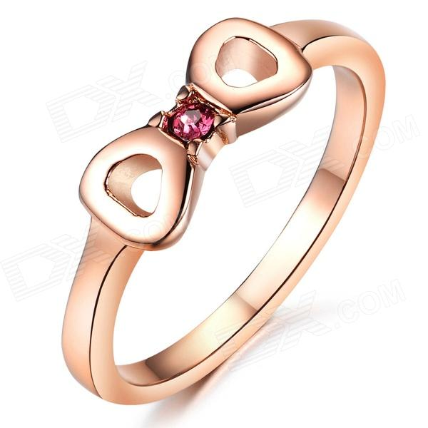 Women's Fashionable Stainless Steel Tail Ring - Rose Gold (U.S Size 7)