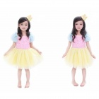 Fashion style princesse jupe robe MR-13 enfants - rose + jaune + Multi-couleur (S)