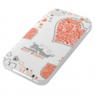 Heart Style Glow-in-the-dark Protective TPU Back Case Cover for IPHONE 4 / 4S - White + Orange