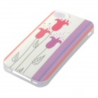 Para iPhone 4 / 4S Protective Patterned-Glow-no-escuro TPU Case Capa Voltar - Branco + Multi-colored