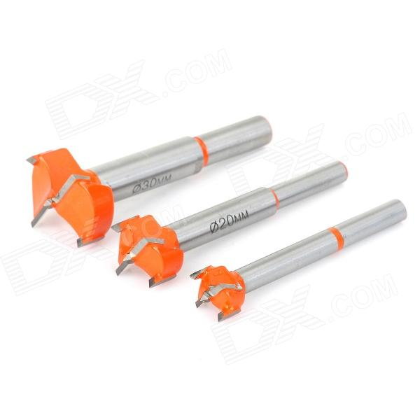 Woodworking Cemented Carbide Drill Bit Tapper Tool Set woodworking alloy steel hole saw tapper drill bit tool silver grey orange
